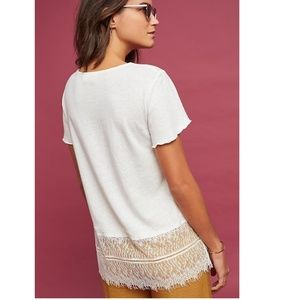 Anthropologie Tops - Anthropologie Linen & Lace Tee